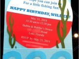 Fish themed Birthday Party Invitations Gone Fishing Birthday Invitations and Fishing On Pinterest