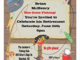 "Fishing Retirement Party Invitations Fishing Retirement Party Invitation 5 25"" Square"