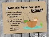 Fishing Retirement Party Invitations Gone Fishing Retirement Party Invitation Printable 5×7 4×6