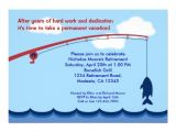 Fishing Retirement Party Invitations Personalized Gone Fishing Invitations