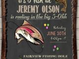 Fishing themed Party Invitations Fishing Birthday Invitation Invite 30th 40th 50th 60th