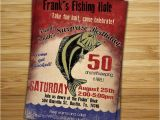 Fishing themed Party Invitations Fishing Birthday Party Invitation Invite 30th 40th