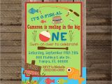 Fishing themed Party Invitations Fishing Invite Fishing Invitation First Birthday Fishing