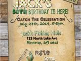 Fishing themed Party Invitations Printable Fishing Birthday Invitation Fishing themed