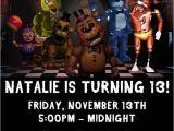Five Nights at Freddy S Birthday Invitation Template 10 Five Nights at Freddy 39 S Birthday Invitations