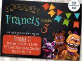 Five Nights at Freddy S Birthday Invitation Template Five Nights at Freddy 39 S Invitation Five Nights Freddy 39 S
