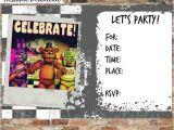 Five Nights at Freddy S Birthday Invitation Template Five Nights at Freddy 39 S Invitations and by