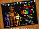 Five Nights at Freddy S Birthday Invitation Template Five Nights at Freddy 39 S Invitations Five Nights at