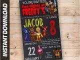 Five Nights at Freddy S Birthday Invitation Template Fnaf Invitations Five Nights at Freddy 39 S Invitations
