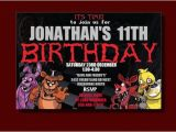 Five Nights at Freddy S Birthday Invitations Five Nights at Freddy S Birthday Invitation by