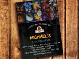 Five Nights at Freddy S Birthday Invitations Five Nights at Freddy S Invitation Five Nights by