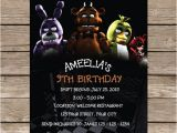 Five Nights at Freddy S Birthday Invitations Printable Five Nights at Freddy S Invitation Five Nights by
