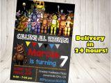 Five Nights at Freddy S Birthday Invitations Printable Free Five Nights at Freddy S Invitation Five Nights by
