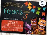 Five Nights at Freddy S Birthday Invitations Printable Free Five Nights at Freddy S Invitation Five Nights Freddy S