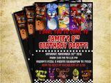Five Nights at Freddy S Birthday Invitations Printable Free Five Nights at Freddy S Invitation Fnaf Invitation