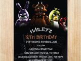 Five Nights at Freddy S Birthday Invitations Printable Printable Five Nights at Freddy S Invitation by