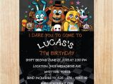 Five Nights at Freddy S Birthday Invitations Printable Printable Five Nights at Freddy S Invitation Five Nights