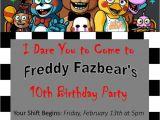 Five Nights at Freddy S Birthday Party Invitations 77 Best Fnaf Birthday Images On Pinterest Birthdays