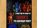 Five Nights at Freddy S Birthday Party Invitations Five Nights at Freddy 39 S Birthday Party Invitation by