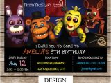 Five Nights at Freddy S Birthday Party Invitations Five Nights at Freddy 39 S Invitation Five Nights by