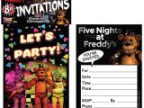 Five Nights at Freddy S Birthday Party Invitations Five Nights at Freddy 39 S Invitations 8 Birthdayexpress Com