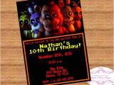 Five Nights at Freddy S Birthday Party Invitations Fnaf Five Nights at Freddy 39 S Birthday Invitation Digital