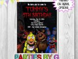 Five Nights at Freddy S Invitations Party City Five Nights at Freddy S Birthday Party Invitations by