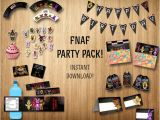 Five Nights at Freddy S Invitations Party City Five Nights at Freddy S Party Pack Fnaf Party by