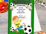 Flag Football Party Invitations 10 Personalised Football Birthday Party Invitations N40