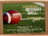 Flag Football Party Invitations Birthday Flag Football Invitation Man Boyfriend