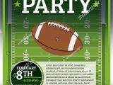 Flag Football Party Invitations Eps 10 Flyer Design Perfect Tailgate Stock Vector