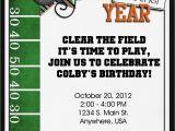 Flag Football Party Invitations Football Birthday Party Invitation Digital Custom