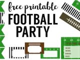 Flag Football Party Invitations Free Printable Football Decorations Football Party