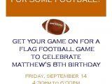 Flag Football Party Invitations Invitations