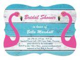 Flamingo Bridal Shower Invitations Blue White Flamingo Bridal Shower Invitation Zazzle