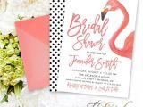 Flamingo Bridal Shower Invitations Flamingo Bridal Shower Invitation Watercolor Flamingo