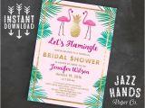 Flamingo Bridal Shower Invitations Let 39 S Flamingle Printable Bridal Shower Invitation