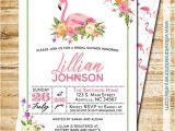 Flamingo Bridal Shower Invitations Tropical Flamingo Bridal Shower Invitation island Flowers