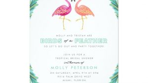 Flamingo Bridal Shower Invitations Tropical Flamingo Bridal Shower Invitation Zazzle