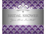 Fleur De Lis Bridal Shower Invitations Elegant Bridal Shower Fleur De Lis Purple Invitations Zazzle
