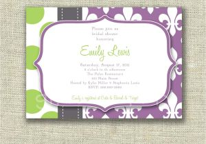 Fleur De Lis Bridal Shower Invitations Modern Bridal Shower Invitation Fleur De Lis Dots by