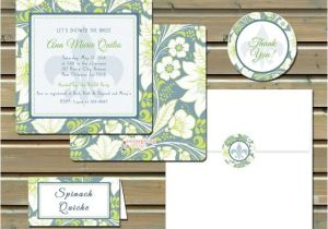 Fleur De Lis Bridal Shower Invitations Printed Floral Fleur De Lis Bridal Shower Invitations