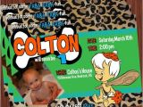Flintstones Baby Shower Invitations Bam Bam Invitation Bamm Bamm Flintstone by Mimisdollhouse