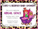 Flintstones Baby Shower Invitations Flintstones Pebbles Bedrock Baby Shower Invite by
