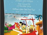 Flintstones Party Invitations Custom Flintstones Birthday Party Invitations Diy
