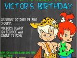 Flintstones Party Invitations Flintstones Pebbles Birthday Invite