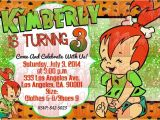 Flintstones Party Invitations Flintstones Pebbles Glitter Birthday Party Digital