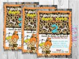 Flintstones Party Invitations Flintstones Twin Birthday Invitation Flintstones Pebbles