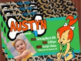 Flintstones Party Invitations Pebbles Invitation Green Mimi 39 S Dollhouse