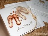 Flip Flop Wedding Invitations Seal and Send Beach Wedding Invitations to Set the tone